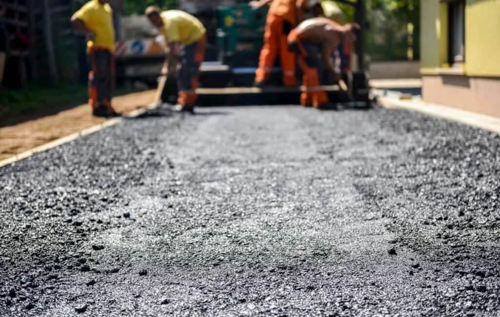 Fixing a crumbling asphalt driveway