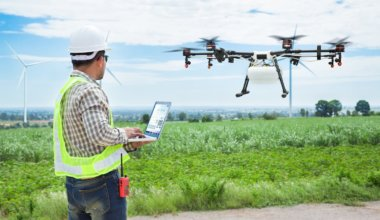 Use of drones in construction