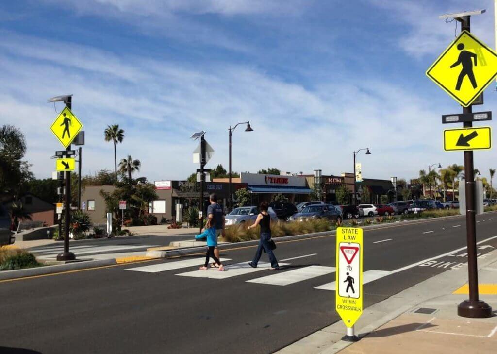 Pedestrian Walkway Signs for Street Crossings