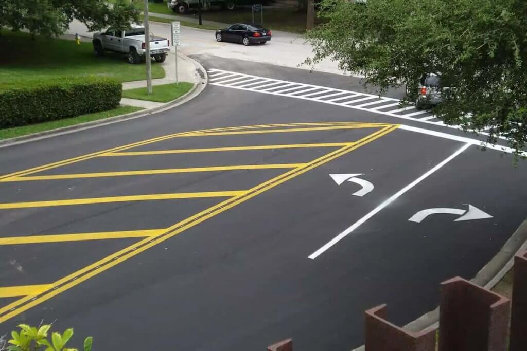 Sidewalk Arrows and Markings