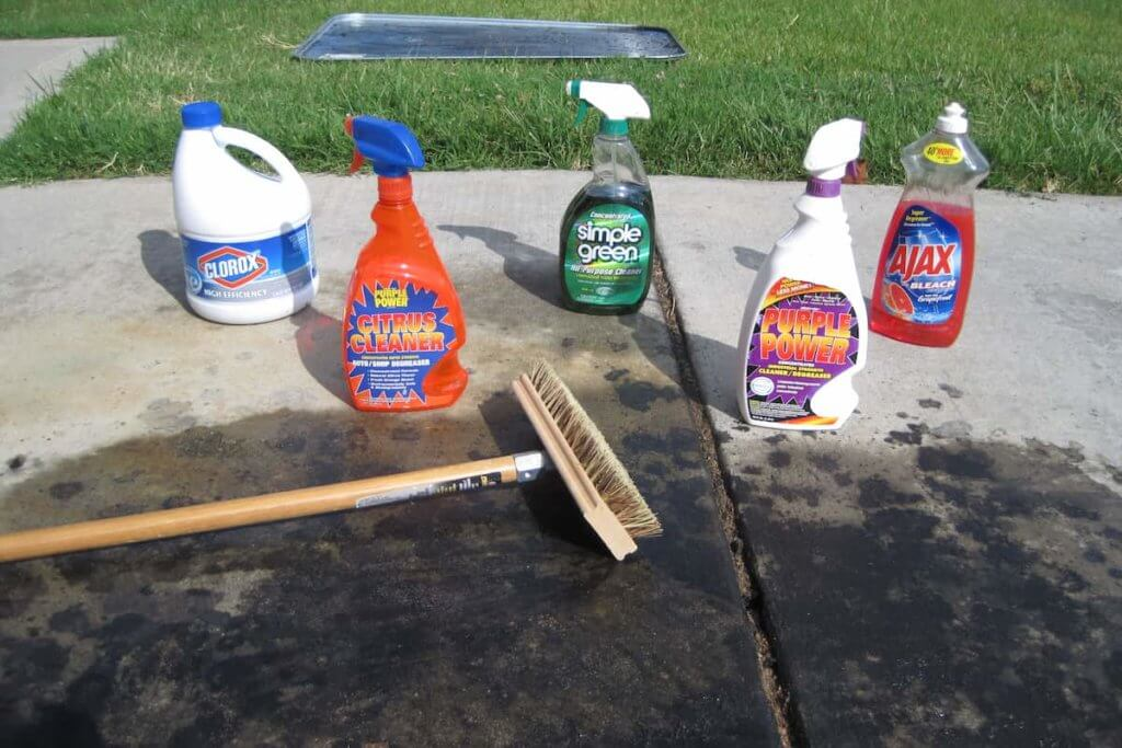 Using concrete cleaner